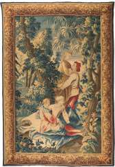 TAPESTRY WITH SILK