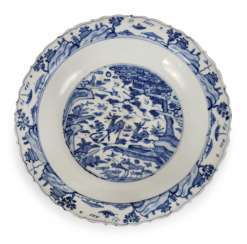 Blue-And-White Plate With Deer