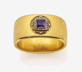 A historical bangle with Amethyst and diamond roses