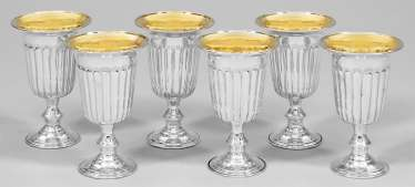 Six wine cups