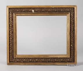 Small Art Nouveau Gold Stucco Frame