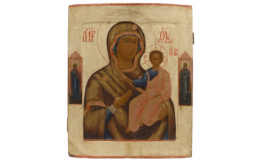 Large and beautiful icon of the Virgin...