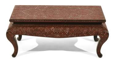 Small rectangular table with Guri-lacquer-decor