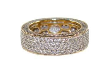 Band Ring Diamond 585 Yellow Gold.