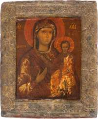 ICON OF THE MOTHER OF GOD OF SMOLENSK (SMOLENSKAYA) WITH BASMA