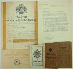 Prussia: certificate of group of sergeants in the field of air-Schiffer Department no. 26.