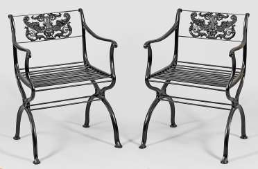 Pair Of Garden Armchairs