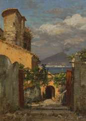 WUTTKE, Carl: Sorrento with a view of the Vesuvius