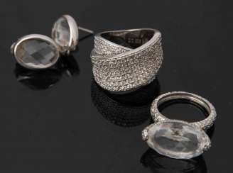 SILVER RINGS AND EARRINGS