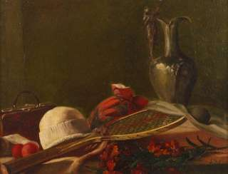 Still life with tennis racket