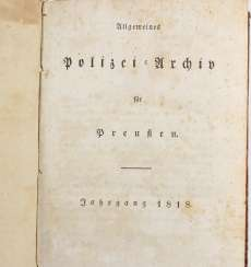 Police Archives Of Prussia