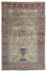 Rare Keschan Mohtaschem prayer carpet in silk