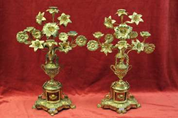 A pair of candlesticks, XIX century