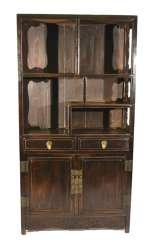 Cabinet Cabinet made of hard wood with two doors and two relapses