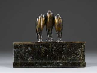 WIENER image sculptor Active 1. Half of the 20. Century Figural Inkwell