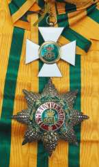 Luxembourg: Order of the oak crown, 2nd model (since 1858), grand cross set.