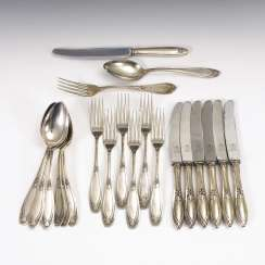 Silver plated art Nouveau style Cutlery for 6 people