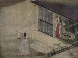 Scene from the tale of Genji (Genji Monogatari)