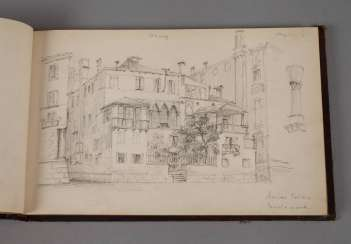 Sketch book with views of Italy