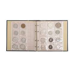 Album with medals, and most silver-containing coins,