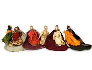 Six Nativity Figures, By The End Of 19th Century. Century,