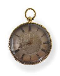Gold Pocket Watch With Cylinder