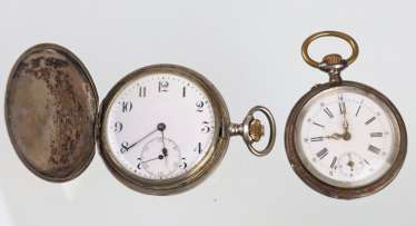 2 men's pocket watches