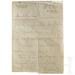GFM Erwin Rommel - handwritten letter to his wife, Lucie, from the 10.6.1942