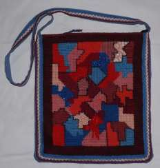 Bag with embroidery.