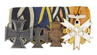 Medalbar Olympic games in 1936, with 4 awards.