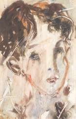 ANATOLIJ TIMOFEEWITSCH ZWEREW 1931 Moscow - 1986 Sviblovo District / Moscow Woman's head mixed media on paper. 47