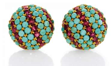 TURQUOISE-AND-RUBY-EARRINGS