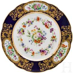 Plates from the dinner service of the Grand Duchess Olga Nikolaevna Romanova, Imperial porcelain manufactory, St. Petersburg, Russia, around 1840