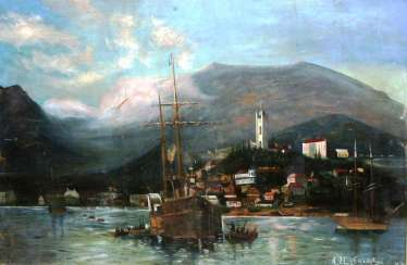 "A. Ilnitsky""Harbor in Yalta""XIX-n. XX centuries."