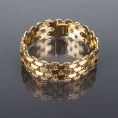 Things to see, wide Gold bracelet, yellow gold 750 / 18 carats, and its luxury brand, Franklin Mint, very elegant and beautiful.