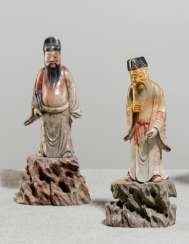 Pair of soapstone figures on the Rock-sockets