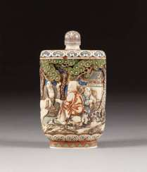 SNUFFBOTTLE WITH A FIGURAL SCENE