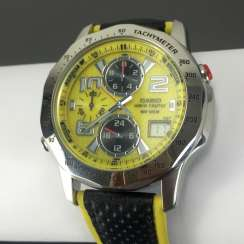 Casio Wave Ceptor WVQ-550LE-9AVER wrist watch for men. Yellow dial. Radio-controlled clock!