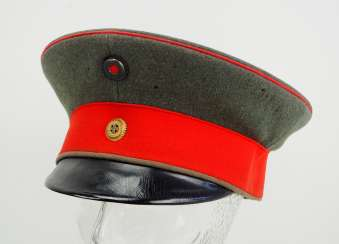 Prussia: Field gray visor cap for officers of the Landwehr.