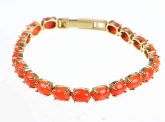 Coral Riviere bracelet yellow gold 585