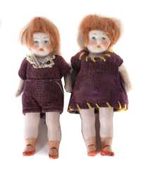 Pair of twins for a doll's house around 1920