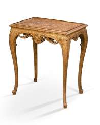 A REGENCE-STYLE GILTWOOD SIDE TABLE