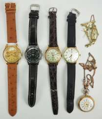 Lot of 5 wrist watches.