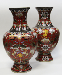 Mating pair of vases