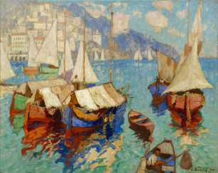 Boats in Amalfi Bay