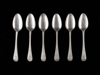 SIX NEOCLASSICAL DINING SPOON