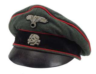 Waffen-SS: a visor cap for officers of the storm artillery.