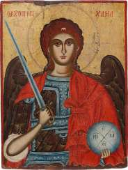 LARGE-FORMAT ICON WITH THE ARCHANGEL MICHAEL Greece