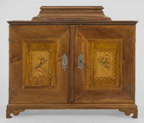 Large Baroque Cabinet box with hidden game Board