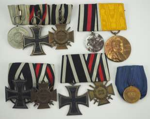German Empire: Lot of 5 medal buckles.
